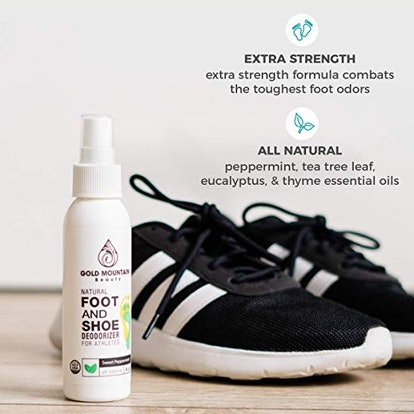 Most Effective All Natural Shoe Deodorizer Spray and Foot Odor Eliminator