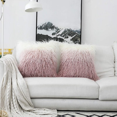 Kevin Textile Faux Fur Cushion Cover (2 Pack)