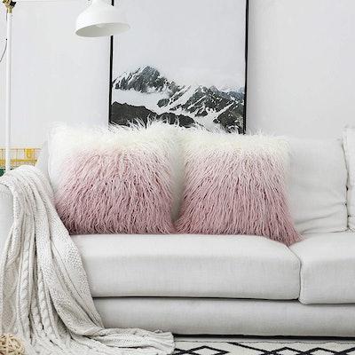 Kevin Textile Faux Fur Cushion Cover (2 Pack)