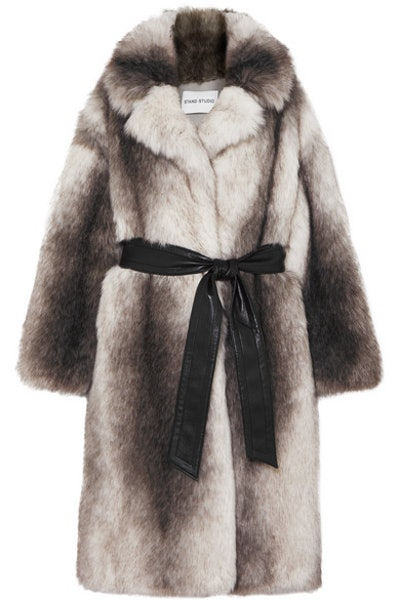 Clara Oversized Belted Faux Fur Coat