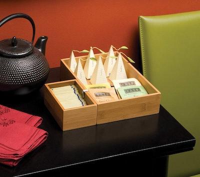 Seville Classics Bamboo Storage Box Set (5 Pieces)