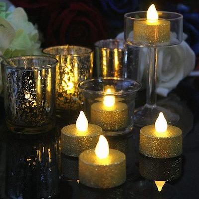 LOGUIDE Flameless Tea Lights (24 Pack)