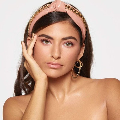 Kitsch x Justine Marjan Patent Knotted Headband with Chain