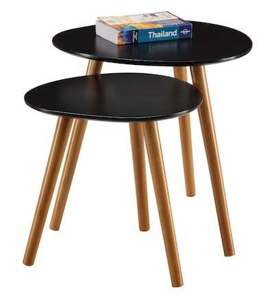 Convenience Concepts No Tools Oslo Nesting End Tables, Multiple Colors