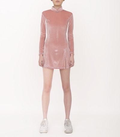 DAWANG Velvet Mini Dress
