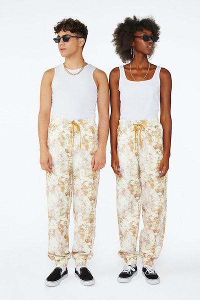 Acid Wash Print Sweatpants