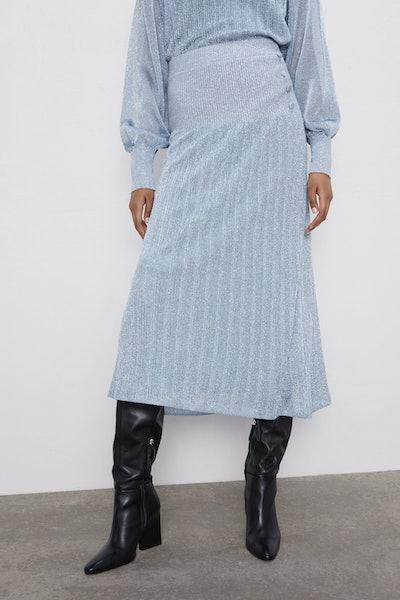 Shimmery Knit Skirt