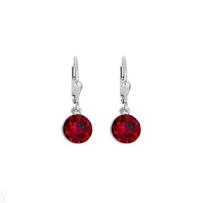 Coeur De Lion Red Crystal Earrings