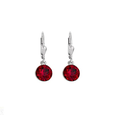 Coeur De Lion Red Crystal Earrings