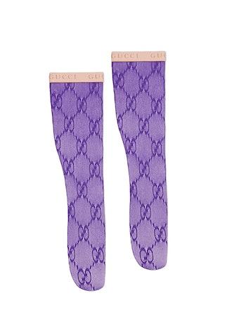 Double G Logo Knee High Socks