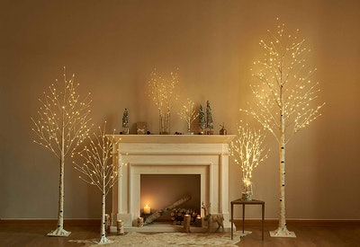 Hairui Birch Tree With LED Fairy Lights (2 Pack)