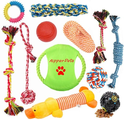 Aipper Dog Puppy Toys (12-Pack)