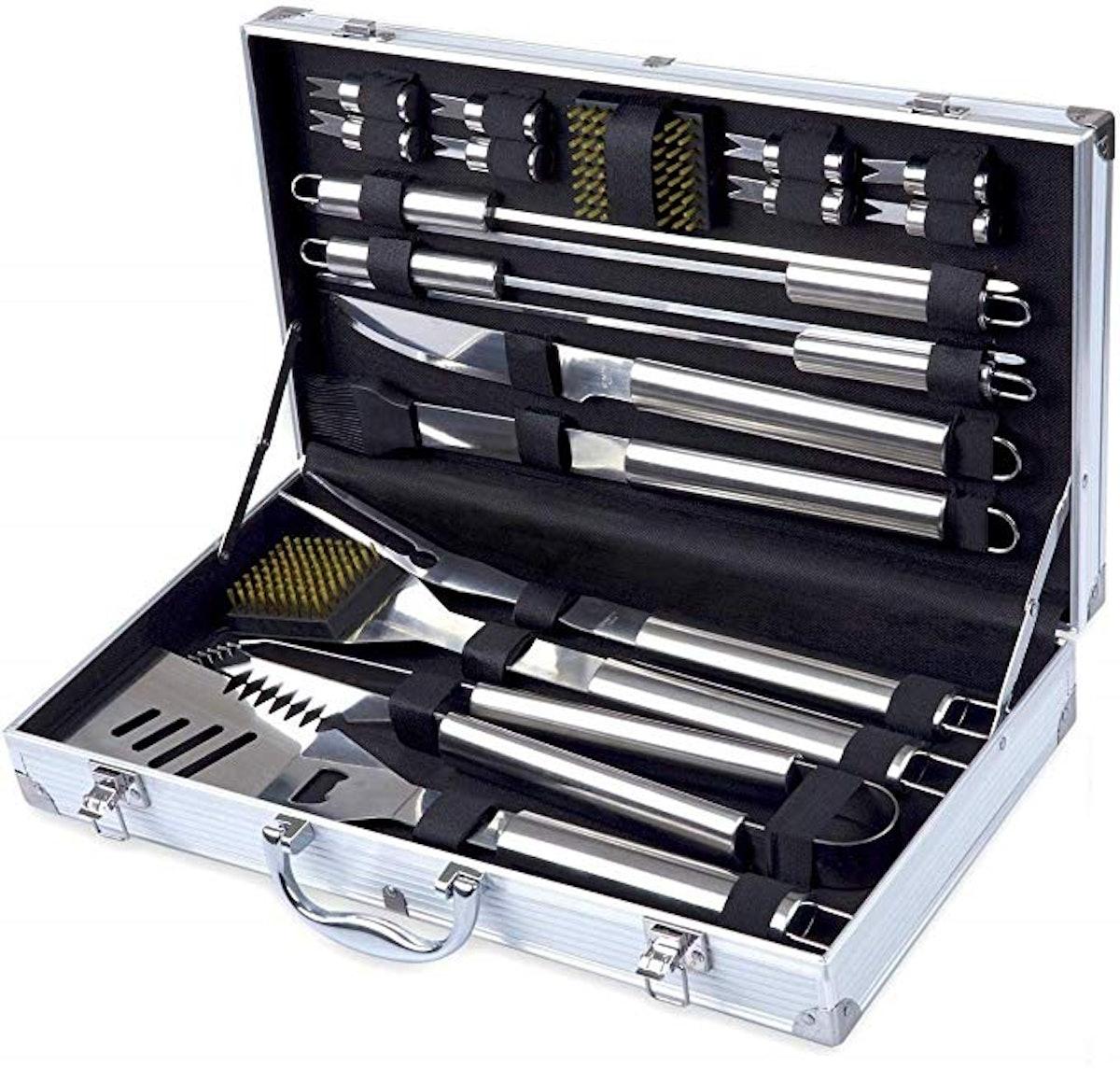 Grill Utensil Set with Storage Case (19-Piece Set)