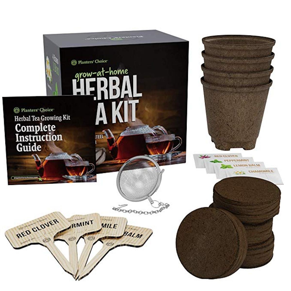 Grow 4 of Your Own Organic Herbal Tea Kit