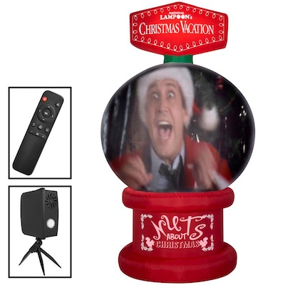 8 ft. Living Projection Pre-lit Inflatable NLCV Snow Globe Airblown Scene