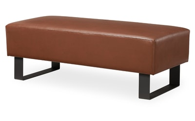MoDRN Industrial Atoll Metal Base Bench