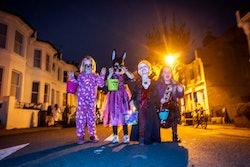 Children dress in costume to celebrate Halloween on October 31, 2018 in Brighton, United Kingdom.