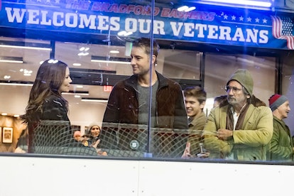 Jennifer Morrison as Cassidy, Justin Hartley as Kevin, and Griffin Dunne as Nicky on 'This Is Us'