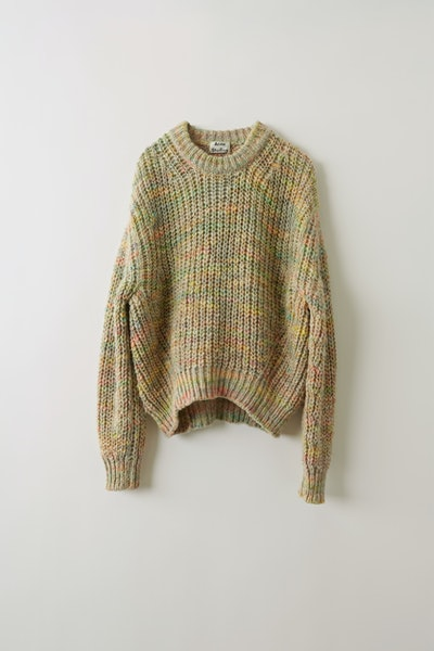 Space Dyed Sweater Pale Grey/Multi