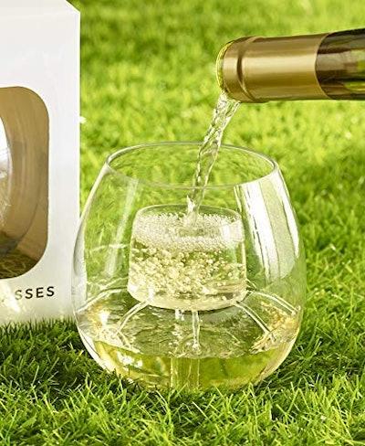 CHEVALIER Shatterproof Aerating Wine Glasses (2-Set)