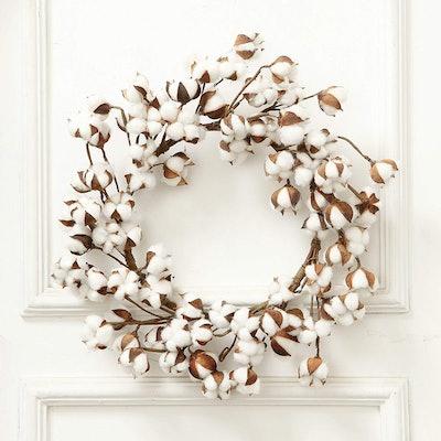 VGIA Farmhouse Cotton Wreath