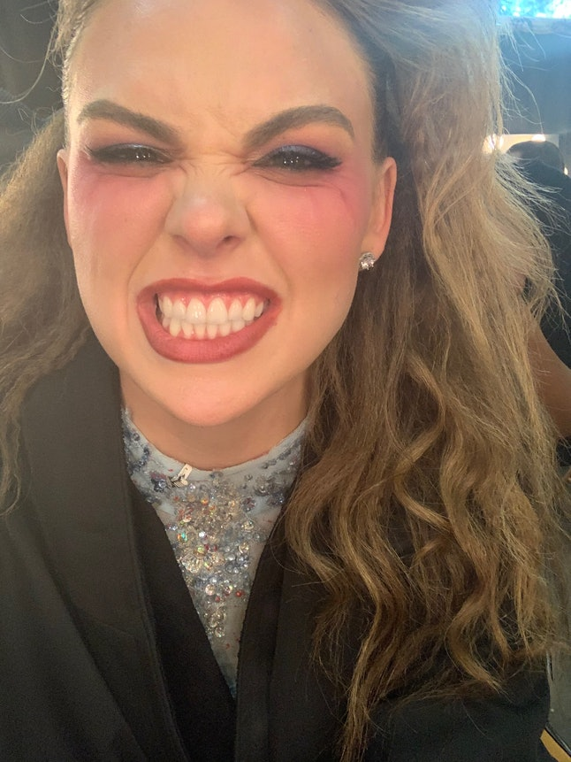 Hannah Brown shows her makeup off for Week 7 of DWTS: Halloween night.