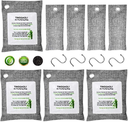 Activated Charcoal Odor Absorber Air Purifier Bags (8-pack)