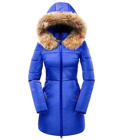 Beinia Valuker Down Coat With Fur Hood