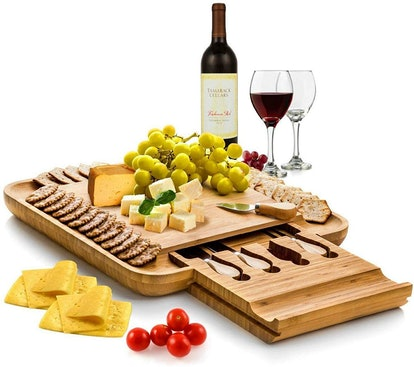 Bambusi Premium Bamboo Cheese Board Set