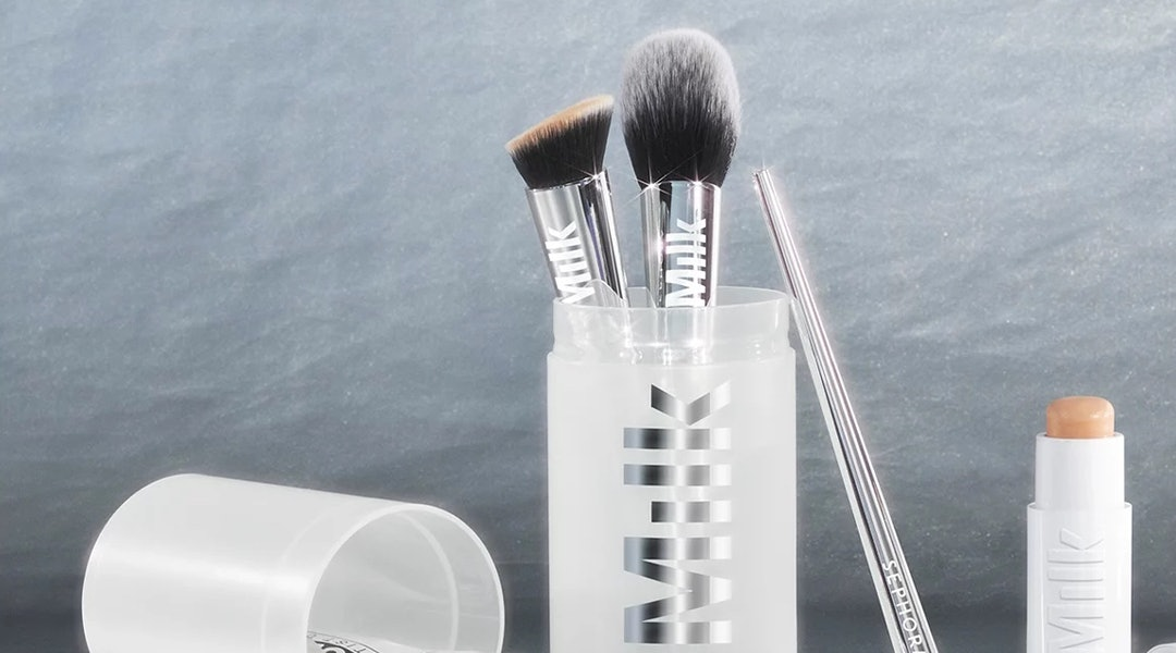 Milk Makeup x Sephora Collection Studio Brush Set is very limited-edition and includes essential makeup brushes in an on-the-go travel case.