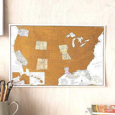 Maps International Scratch Off US Map