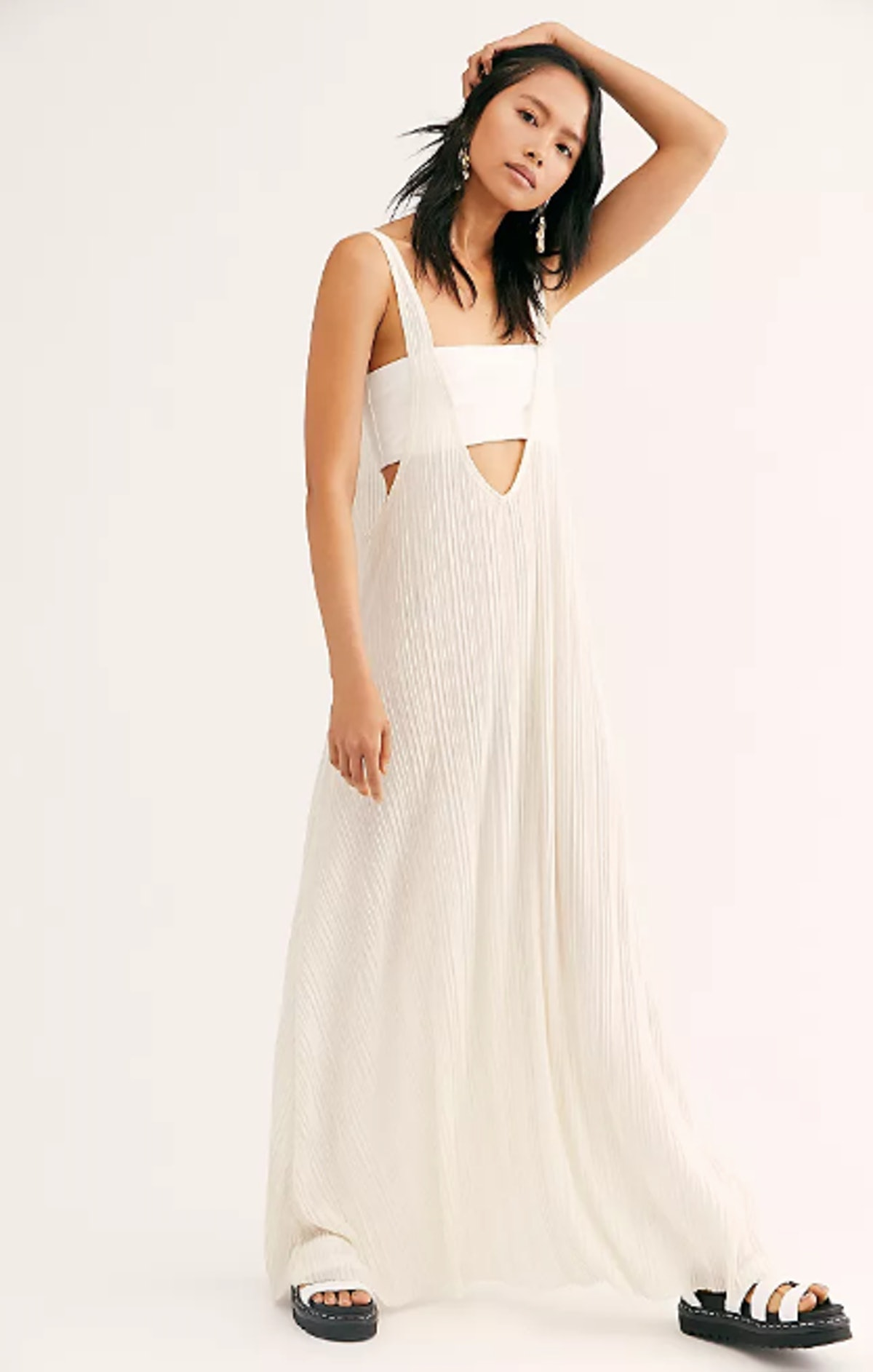 White Caps Maxi Dress