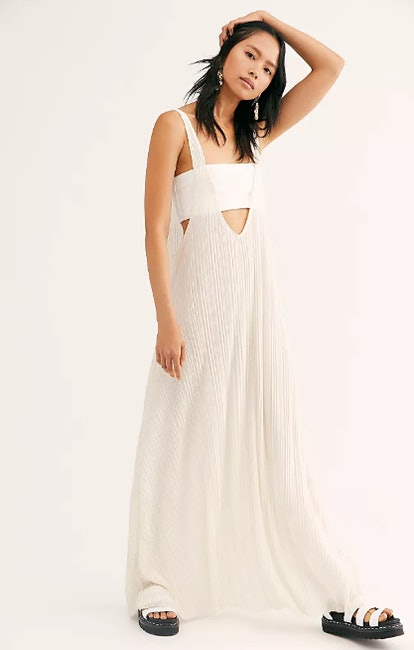 White Caps Maxi Dress