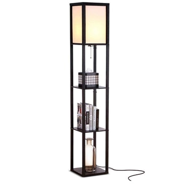 Brightech Maxwell - LED Shelf Floor Lamp