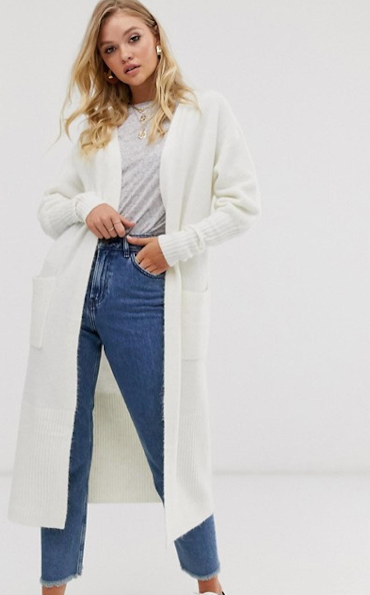 Micha Lounge Luxe oversized cardigan with rib knit cuffs