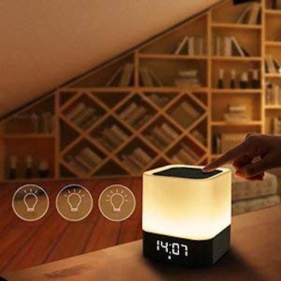 Atralife Touch-Control Alarm Clock Speaker