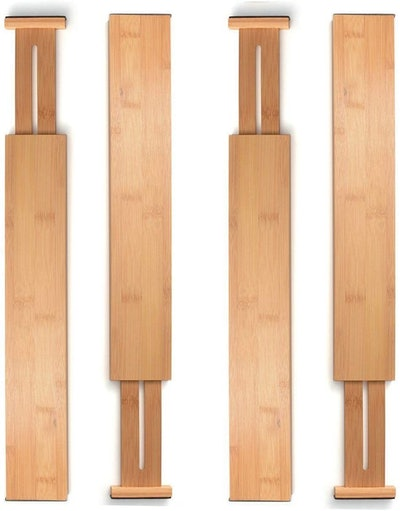 Bambüsi Bamboo Drawer Dividers (4-Pack)