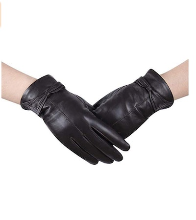 Women Touchscreen Texting Nappa Leather Glove