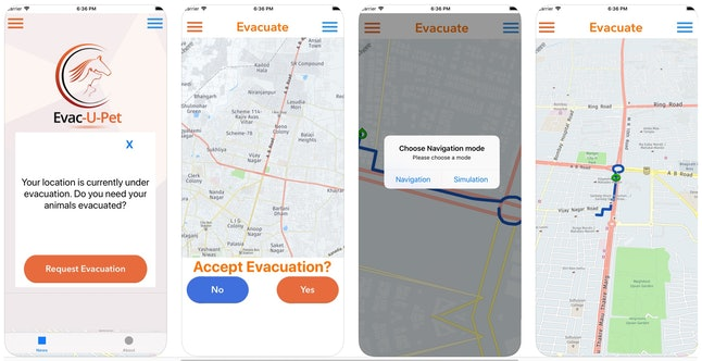 Use this app to safely evacuate your pets during a wildfire.