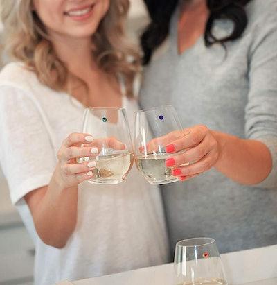 Swarovski Crystal Wine Charms (12-Set)