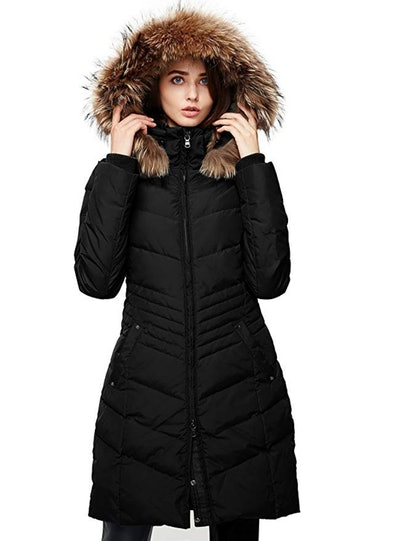 Escalier Winter Parka With Raccoon Fur