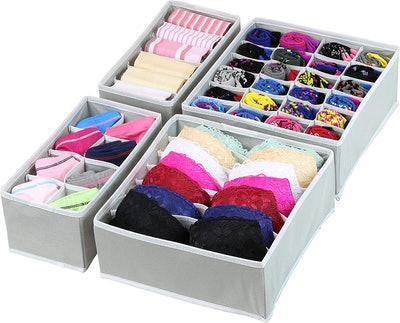 Simple Houseware Closet Underwear Organizer (4-Pack)