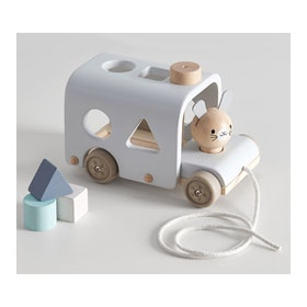 PlanToys X Pottery Barn Kids Bunny Sorting Bus (1+)