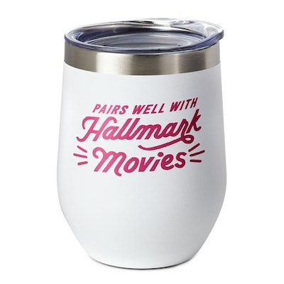 Pairs Well With Hallmark Movies Stainless Steel Tumbler