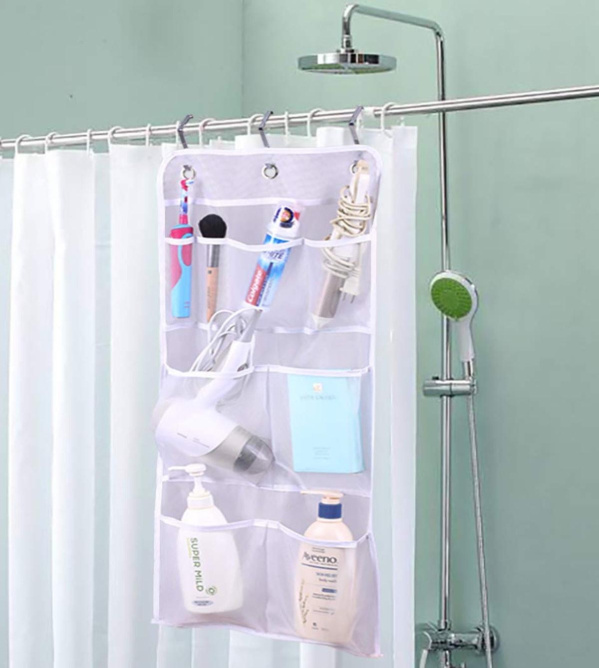 MISSLO Hanging Mesh Pockets Shower Organizer