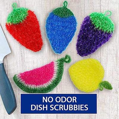 Dish Scrubbie Fruit Shaped Sponge (3 Pack)