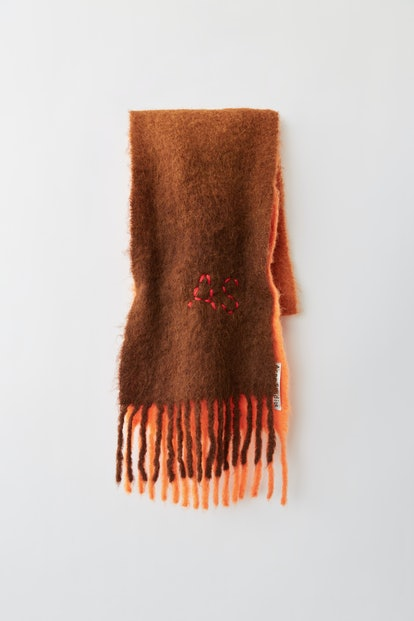 Skinny Dip-Dyed Scarf Orange/Rust/Brown