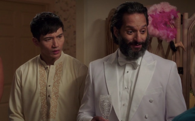 Manny Jacinto and Jason Mantzoukas in 'The Good Place'