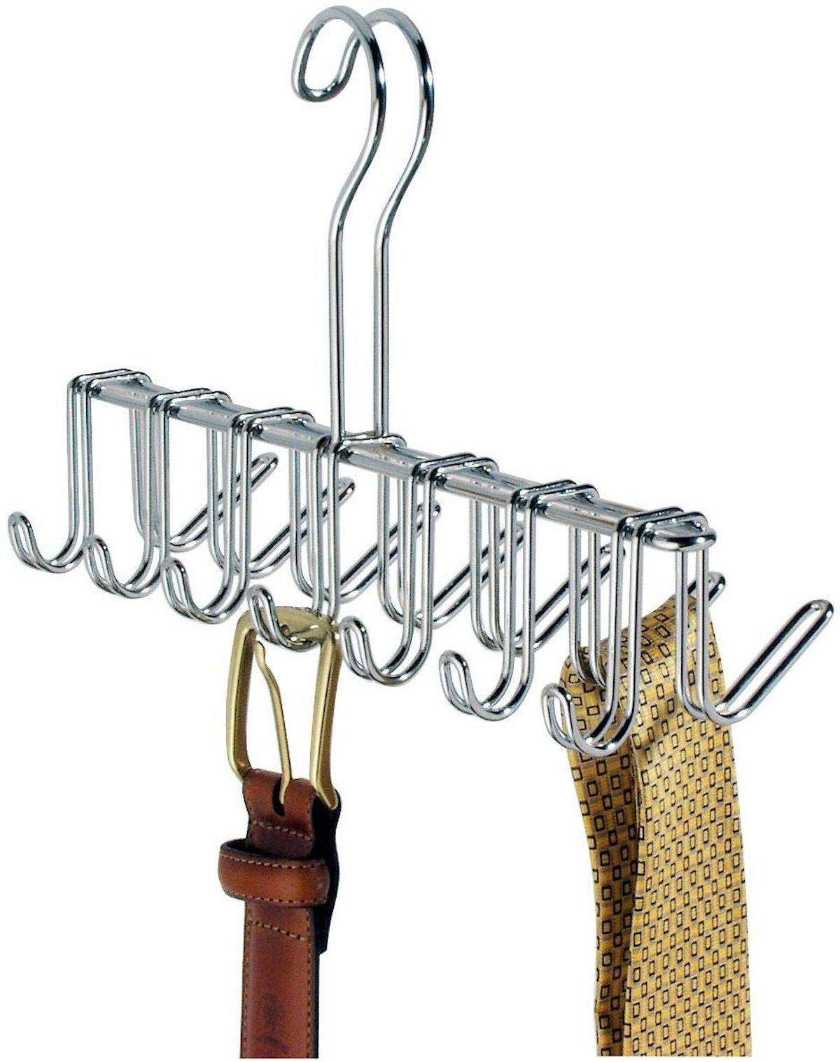 Metal Tie and Belt Hanger Organizer