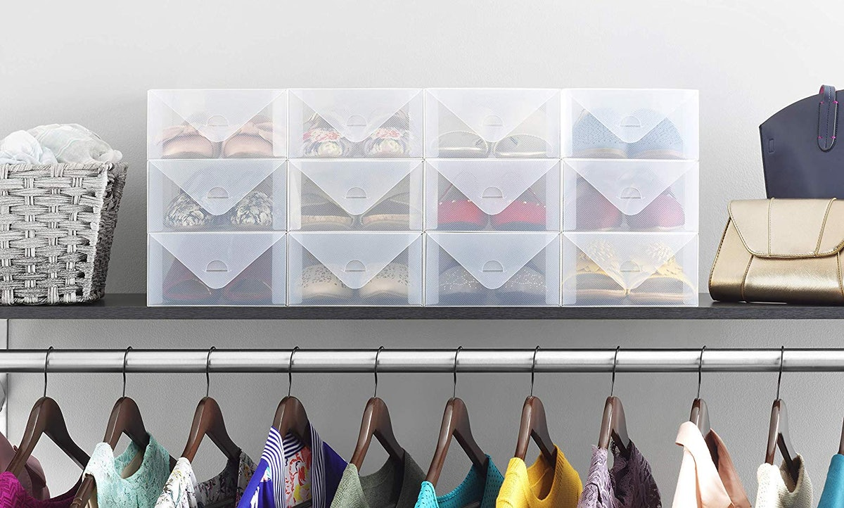 Whitmor Clear Stackable Shoe Storage